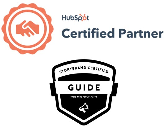 certified hubspot partner and storybrand certified